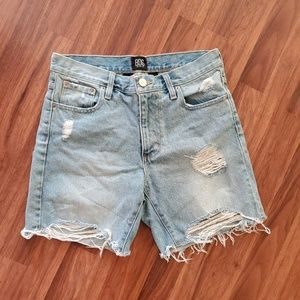 Distressed Cutoff High Waist Light Jean Shorts BDG
